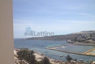 1 Bedroom Penthouse with Sea Views For Rent in Qawra Malta